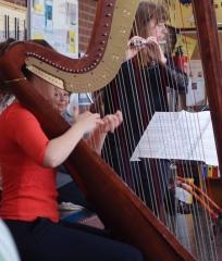 Harfe und Querflöte